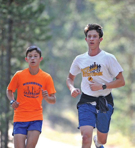 Bud Denega | The Sheridan Press<br /> David Standish, left, and Alex Garber, are a couple of Sheridan's quickest runners ahead of the 2018 season.