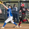 Hailie Hensley beats the play at first