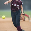 Chelsey McClung pitches for Luray