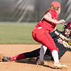 Meredith Dean slides in to steal second base