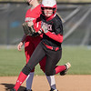 Hailie Hensley rounds second base