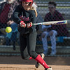 Meredith Dean slaps the ball laying it down just in front of the plate