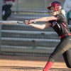 Meredith Dean connects with the ball for a double.