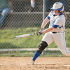 Taylor Carpenter makes contact for a short ground ball