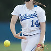 Kirsten Fletcher throws her last opening pitch at Spotswood.