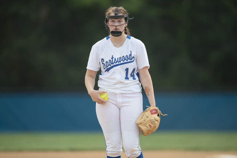 Kirsten Fletcher prepares to throw out her first last pitch at her home field