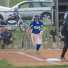 Bethany Martz attempts to make it to first base