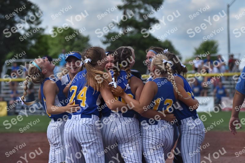 -Messenger photo by Britt Kudla<br /> Humboldt celebrates a win over Albia during class 3A 3rd place on Friday