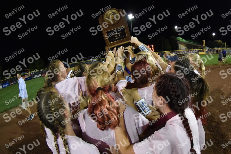-Messenger photo by Britt Kudla<br /> Pleasant Valley celebrates after a victory against Indianola during 5A championship on Friday