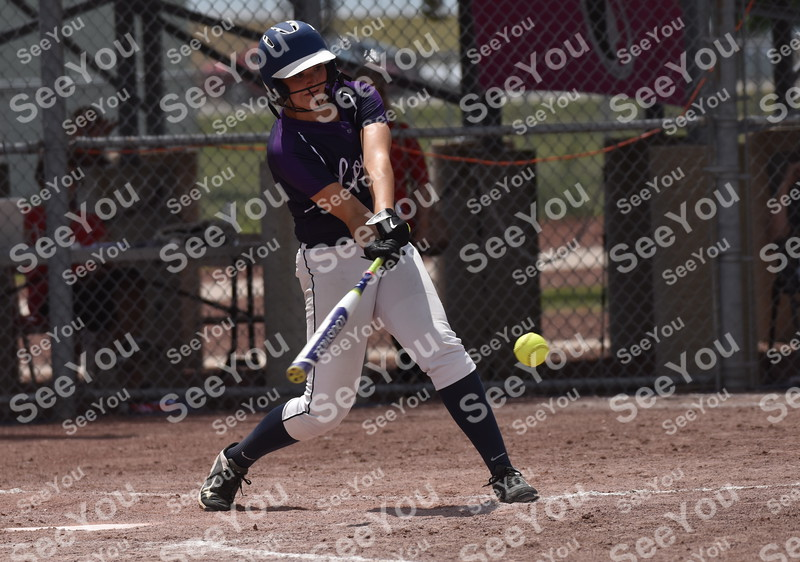-Messenger photo by Britt Kudla<br /> Rachel Sicard of AGWSR connects for a single against Akron-Westfield during class 1A semi finals on Wednesday