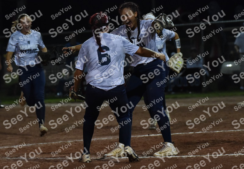 -Messenger photo by Britt Kudla<br /> Alexia Lara of Pleasant Valley celebrates after pitch the spartans to a victory over WDM Valley during class 5A semi-finals on Wednesday