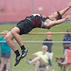 Trenton Morris competes in the High Jump