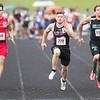 Chandler Breeden competes in the 100M dash