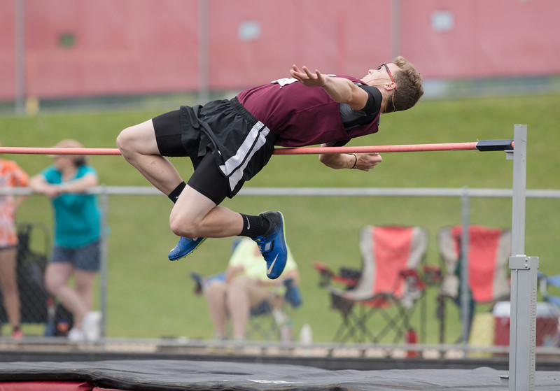 Lurray' Caleb Wright competes in the High Jump