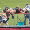 Sierra Murray competes in the high jump