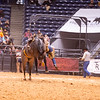 Salvador Torres from Robbins Ranch & Maughan Ranch scores an 80 point ride at WRCA World Championship Ranch Rodeo 2018