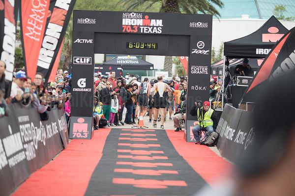 Finish 2018 Ironman Texas 70.3