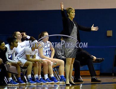 12/9/2017 Mike Orazzi | Staff CCSU Head Women's Basketball Coach Beryl Piper during women's hoops in New Britain.