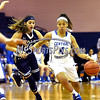 12/9/2017 Mike Orazzi | Staff<br /> CCSU's Kiana Patterson (4) and Yale University's Roxy Barahman (21) during women's hoops in New Britain.