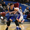 12/14/2017 Mike Orazzi | Staff<br /> Bristol Eastern's Hannah Maghini (11) and Plainville's Isabel Lozefski (10) Thursday night in Plainville.