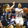 12/9/2017 Mike Orazzi | Staff<br /> CCSU's Ashley Chin (22) and Yale University's Alex Cade (15) during women's hoops in New Britain.