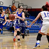 12/14/2017 Mike Orazzi | Staff<br /> Bristol Eastern's Miranda Janick (5) and Plainville's Isabel Lozefski (10) Thursday night in Plainville.
