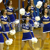 12/9/2017 Mike Orazzi | Staff<br /> Members of the Central Connecticut State University Dance Team during Saturday's women's basketball game with Yale University in New Britain.
