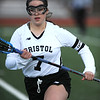 4/11/2018 Mike Orazzi | Staff<br /> Bristol Co-op lacrosse's Maddie Bourassa (7) at Bristol Central Wednesday.