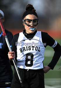 4/11/2018 Mike Orazzi   Staff Bristol Co-op lacrosse's Gabby Abramczyk (8) at Bristol Central Wednesday.