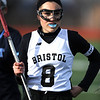 4/11/2018 Mike Orazzi | Staff<br /> Bristol Co-op lacrosse's Gabby Abramczyk (8) at Bristol Central Wednesday.