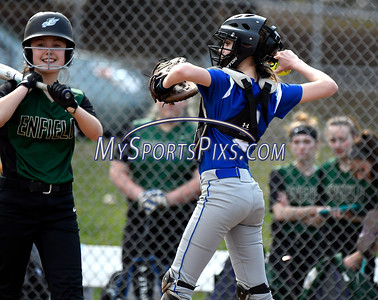 4/13/2018 Mike Orazzi | Staff Bristol Eastern's Paige McLaughlin (2) during Friday's softball with Enfield in Bristol.