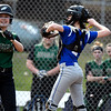 4/13/2018 Mike Orazzi | Staff<br /> Bristol Eastern's Paige McLaughlin (2) during Friday's softball with Enfield in Bristol.