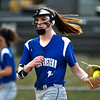 4/13/2018 Mike Orazzi | Staff<br /> Bristol Eastern's Erin Girard (13) during Friday's softball with Enfield in Bristol.