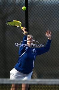 4/12/2018 Mike Orazzi   Staff Bristol Eastern's Sophie Johnsky during Thursday's tennis match.