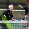 4/18/2018 Mike Orazzi | Staff<br /> Watertown's Elizabeth Rinaldi during Wednesday's tennis match with St. Paul in Bristol's Page Park.