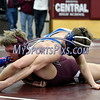 2/8/2018 Mike Orazzi | Staff<br /> Bristol Eastern's Justin Marshall and Bristol Central's Andrew Beaucar in the 152 match at BC Thursday night.