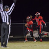 Jwan Evans and Isaac Kisling celebrate after a touchdown