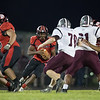 Jwan Evans looks for an open hole in the Luray defense