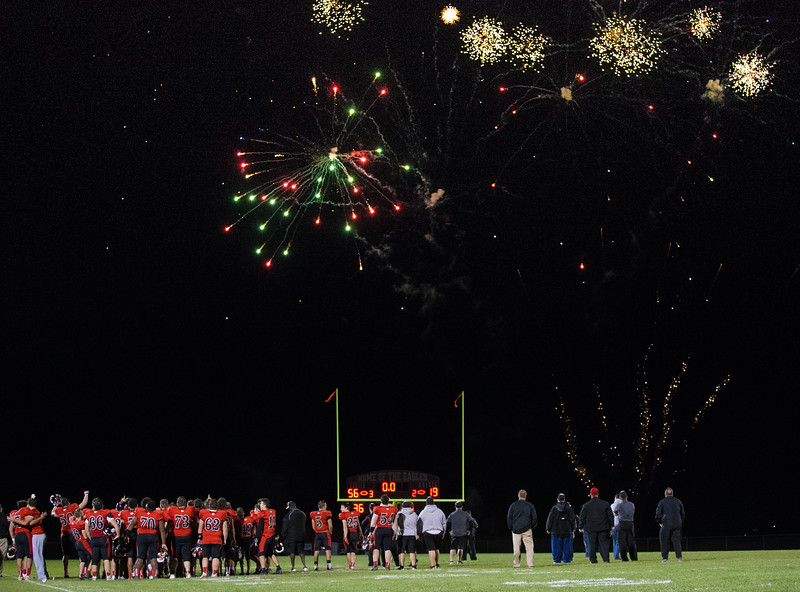 Post game fireworks display to celebrate the Eagles winning the Shenandoah District Trophy