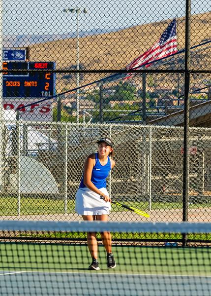 2019-08-27 Dixie HS Girls Tennis vs Hurricane - Callista_0578