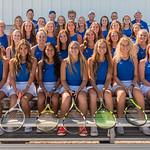 2019 Dixie High School Girls Tennis Team with Coaches