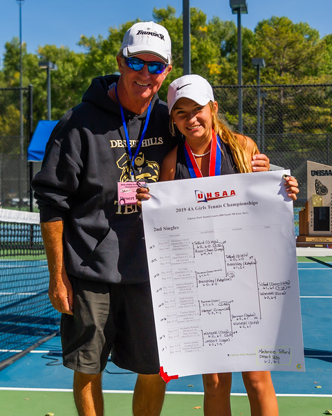 2019-10-05 Region 9 Girls Tennis Players at State Tournament_0317 - DH 2nd Singles - Mackenzie Telford - 1st Place
