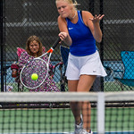 2019-10-05 Dixie HS Girls Tennis at State Tournament_0412a - 2nd Doubles - Becca Little - 2nd Place