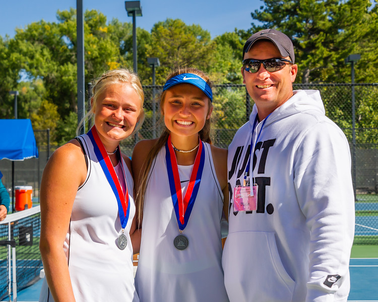 2019-10-05 Dixie HS Girls Tennis at State Tournament_0716a - 2nd Doubles - Becca Little & Sally Fraser - 2nd Place