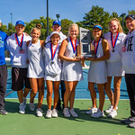 2019-10-05 Region 9 Girls Tennis Players at State Tournament_0335 - Dixie High School - 2nd Place