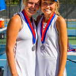 2019-10-05 Dixie HS Girls Tennis at State Tournament_0713a - 2nd Doubles - Becca Little & Sally Fraser - 2nd Place
