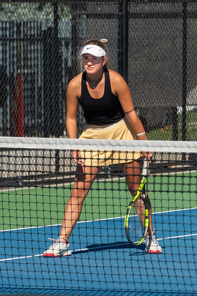 2019-10-05 Region 9 Girls Tennis Players at State Tournament_0024 - DH 1st Doubles - Faith Hess & Cassidy Kohler - 1st Place