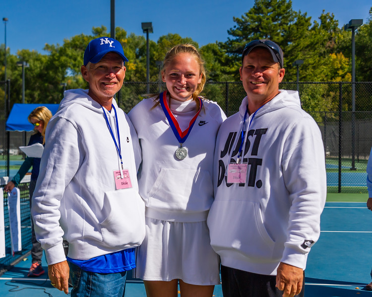 2019-10-05 Dixie HS Girls Tennis at State Tournament_0732a - 3rd Singles - Brynlee Cardall - 2nd Place