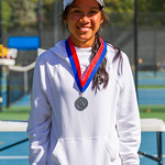 2019-10-05 Dixie HS Girls Tennis at State Tournament_0744a - 2nd Singles - Mychaella Wysneske - 2nd Place