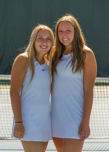 2019-10-05 Dixie HS Girls Tennis at State Tournament_0690a - 1st Doubles - Kalli Beckstrom & Ashley Kezos - 2nd Place